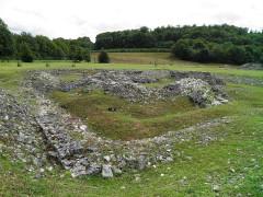 Ruines romaines de Nasium -  The Fanum, small Gallo-Roman temple, Nasium, France