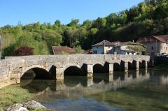 Pont sur la Saulx - English: Bridge over the Saulx river at Rupt-aux-Nonains, Lorraine, France. date: 1557