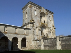 Ancienne abbaye de Jovilliers - Français:   Stainville - Abbaye des Prémontrés de Jovilliers - Les tours de la façade de l\'église non terminée