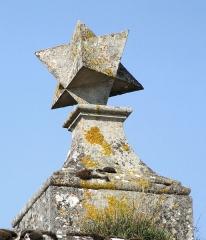 Ancienne abbaye de Jovilliers - Français:   Stainville - Abbaye des Prémontrés de Jovilliers - Détail du portail d\'entrée: octaèdre étoilé