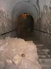 Fort de Vaux (également sur commune de Damloup) -  Fort de Vaux - Escalier descendant au puit du passage souterrain