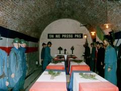 Citadelle -  Cérémonie du choix du soldat inconnu destiné à reposer sous l'Arc de Triomphe; citadelle souterraine de Verdun. Reconstitution.  Photo PRA