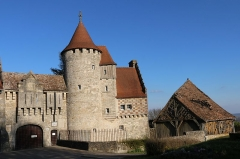 Château d'Hattonchâtel - Deutsch: Schloss Hattonchatel, Ansicht von Westen.