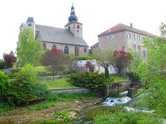 Ancienne abbaye Sainte-Croix - English: Abbatiale st etienne Bouzonville