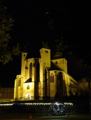 Ancienne abbaye Sainte-Croix - Deutsch: Abteikirche Heilig Kreuz, Bouzonville, Heiligabend 2017