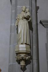 Ancienne abbaye Sainte-Croix - Deutsch: Abteikirche Heilig Kreuz, Bouzonville, Statue des heiligen Antonius von Padua