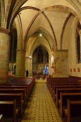 Ancienne abbaye Sainte-Croix - Deutsch: Abteikirche Heilig Kreuz, Bouzonville, rechtes Seitenschiff