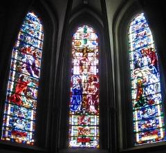 Ancienne abbaye Sainte-Croix - Deutsch: Kirchenfenster Apsis in Bouzonvill