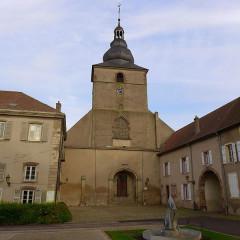Ancienne abbaye Sainte-Croix - Deutsch: Bouzonville, Abteikirche Heilig Kreuz, Turmfront