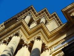 Eglise Saint-Vincent - Français:   Basilique Saint-Vincent de Metz, détails de la façade.