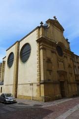Eglise des Trinitaires - Deutsch: Metz, Ehemalige Trinitarierkirche, Straßenecke Bibliothekstraße/Trinitarierstraße (Rue du Haut Poirier/Rue des Trinitaires)