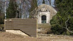 Château-fort (restes) - English: Rodemack castle chapel