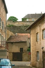 Château-fort (restes) - English: Rodemack, view to the castle