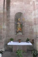 Eglise Saint-Nabor -  Saint-Avold (Moselle, France), abbey church Saint Nabor, statue of Saint Nicolas.