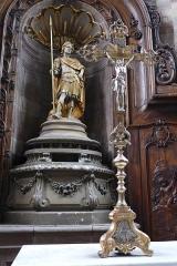 Eglise Saint-Nabor - Deutsch: Ehemalige Abteikirche St. Nabor (St. Avold), Statue des heiligen Nabor in der Apsis