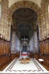 Eglise Saint-Nabor - Deutsch: Ehemalige Abteikirche St. Nabor (St. Avold), Blick vom Chor in die Apsis