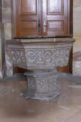 Eglise Saint-Nabor - Deutsch: Ehemalige Abteikirche St. Nabor (St. Avold), Taufstein