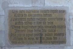 Eglise Saint-Nabor - Deutsch: Ehemalige Abteikirche St. Nabor (St. Avold), Inschrift
