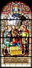 Chapelle Haute du pèlerinage - Deutsch: Haute-Chapelle de Saint-Quirin (eines der sechs Fenster)