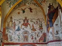 Eglise Saint-Martin - Deutsch: Fresko des Jüngsten Gerichts in St. Martin, Sillegny, Département Mosel, Region Lothringen (heute Großer Osten), Frankreich