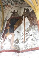 Eglise Saint-Martin - English: Sillegny, Saint Martin church, fresco