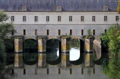 Pont-écluse Sud du Couronné d'Yutz - Deutsch:  Pont de Cormontaigne, Pont-écluse Sud, eine der beiden historischen verteidigungsfähigen Brücken über den Kanal des fortifications in Thionville; Moselle, Frankreich.