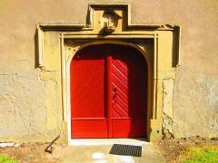 Eglise - English: Valmunster church door