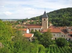 Eglise Saint-Rémy -  vue Vaux