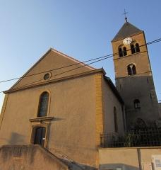 Eglise Sainte-Lucie, à Vallières -  eglise Vallieres Metz