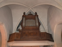 Eglise - English: Photo of the Aouze Church Organ