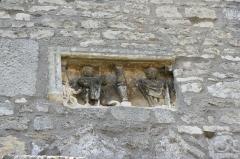 Eglise - Deutsch: Bas-relief an der Außenmauer der Kirche St. Brice in Autreville