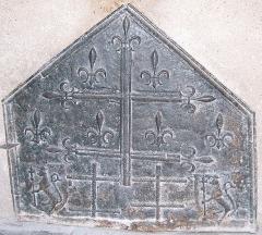 Maison de Jeanne d'Arc -  plaque de cheminée (appelée aussi
