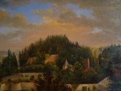 Château - Français:   Antoine Dutac (1787-1857), Vue du château d\'Epinal, Musée départemental d\'art ancien et contemporain d\'Epinal.