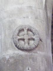 Eglise - Français:   Croix de consécration église Fontenoy-le-Château