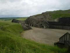 Amphithéâtre romain (ruines) - English: Grand (département 88) Amphitheater, east Entrance (Opening out)