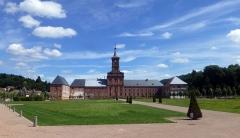Ancienne abbaye - Français:   Abbaye de Moyenmoutier (Vosges): aménagement des espaces verts en août 2016.