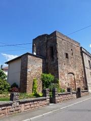 Château épiscopal - Français:   Rambervillers (Vosges): tour de l\'ancienne porterie du château épiscopal (MH)
