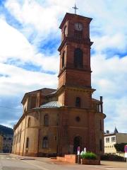 Eglise - Français:   Raon l\'Etape eglise saint luc clocher