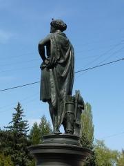 Onze fontaines - Français:   Raon-l\'Etape (Vosges): Fontaine de Minerve, située rue Aristide-Briand. C\'est l\'une des 11 fontaines de Raon-l\'Etape exécutées entre 1860 et 1864 sur des modèles de Jean-Jacques Ducel, et classées MH