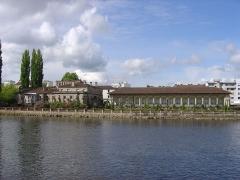 Maison romaine - Maison romaine de l'impasse des Blanchisseuses vue depuis le quai de Dogneville, Épinal.