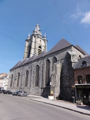 Eglise Saint-Nicolas - English: Avesnes-sur-Helpe (Nord, Fr) la collegiale coté sud