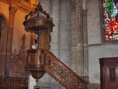 Eglise Saint-Martin - English: Pulpit of the abbatial church of Saint-Martin (17th century)  Le Cateau Cambrésis, France