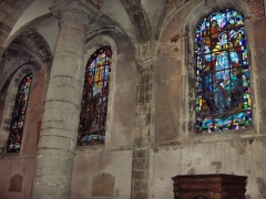 Eglise Saint-Martin - English: Glas in lead windows in the ambulatory of the abbatial church of Saint-Martin (17th century)  Le Cateau Cambrésis, France