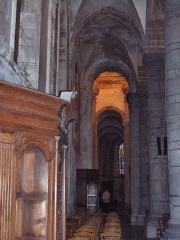 Eglise Saint-Martin - English: Left aisle and the gothic vaults of the abbatial church of Saint-Martin (17th century)  Le Cateau Cambrésis, France