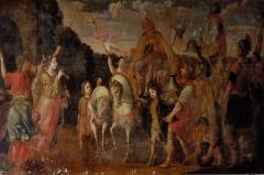 Eglise Saint-Martin - English: Old painting in the abbatial church of Saint-Martin (17th century) Le Cateau Cambrésis, France