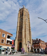 Eglise Saint-Eloi - Deutsch: Belfried, Dünkirchen, Département Nord, Region Oberfrankreich (ehemals Nord-Pas-de-Calais), Frankreich