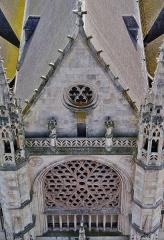 Eglise Saint-Eloi - Deutsch: Blick vom Belfried auf die Kirche St. Éloi, Dünkirchen, Département Nord, Region Oberfrankreich (ehemals Nord-Pas-de-Calais), Frankreich