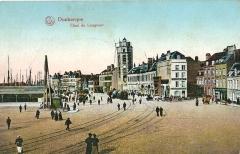 Tour du Leughenaer - Français:   Carte postale ancienne éditée par Lux: DUNKERQUE - Quai de Leugnaer