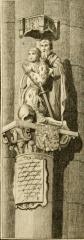 Vestiges de l'ancienne collégiale Saint-Pierre - Čeština: Statue priante de Philippe le Bon présenté par son saint patron, anciennement en collegiale Saint-Pierre de Lille, vers 1450–1455?