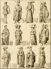 Vestiges de l'ancienne collégiale Saint-Pierre - Čeština: Triple gisant de Louis de Male, Marguerite de Brabant et Marguerite de Male, 1454–1455